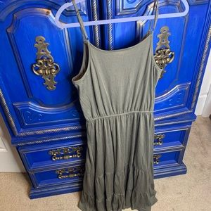 New! Knox Rose Prairie Dress Tiered Green Medium